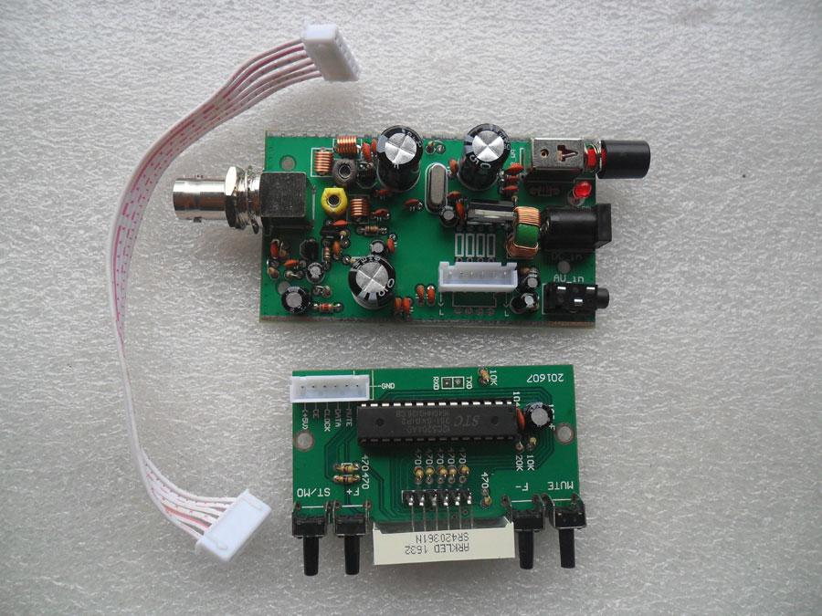 ชุดคิทเครื่องส่ง FM ใช้ IC BH1415F + หน้าจอปรับความถี่ได้ละเอียด 0.1MHz