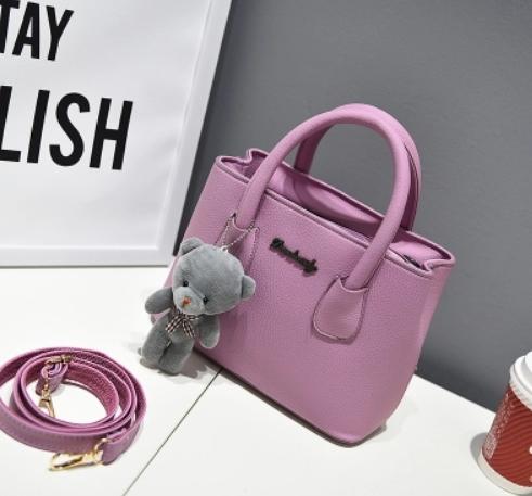 กระเป๋าสะพายข้างผู้หญิง Girl Tools Violet แถมหมี
