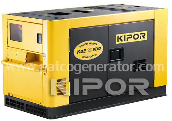 เครื่องกำเนิดไฟฟ้าเครื่องยนต์ดีเซล ขนาด 18.75 KVA KIPOR #KDE19STA3 Diesel Generator 18.75 kva 380v. silent type