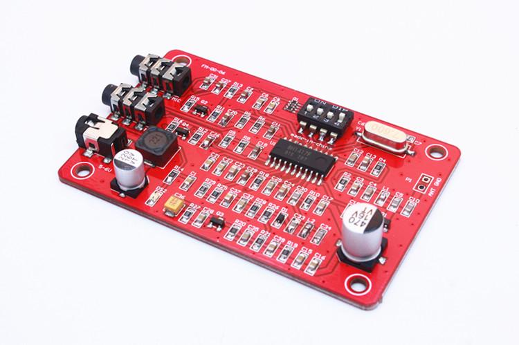บอร์ดเครื่องส่งวิทยุ FM ใช้ไอซีเบอร์ ฺBH1417F ปรับได้ 14 ช่องความถี่