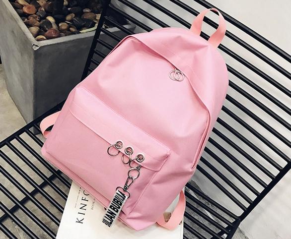 กระเป๋าเป้ LB001 เป้ใบใหญ่ ใส่หนังสือได้ PINK