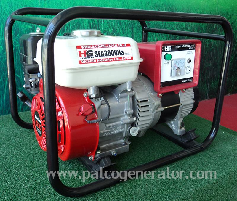 """เครื่องกำเนิดไฟฟ้าเครื่องยนต์เบนซิน """"DAISHIN-JAPAN""""ขนาด 2.5 KVA #SEA3000Ha-E (Gasoline Generator 2.5 kva)"""