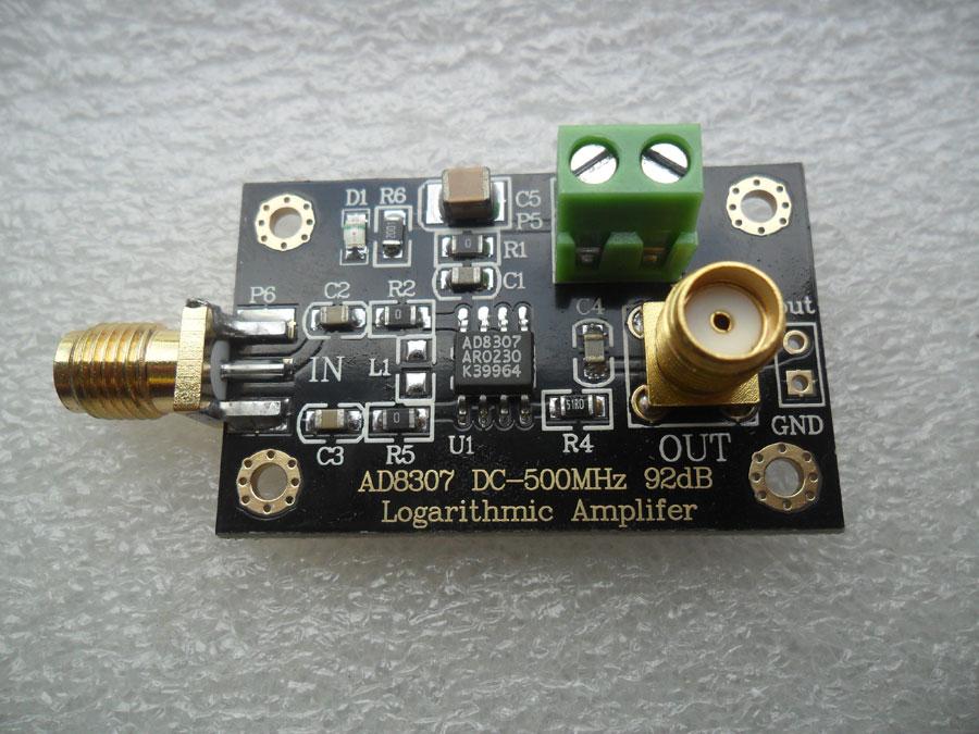 โมดูล AD8307 วัดความเข้มสนามแม่เหล็กไฟฟ้า 1 -500MHz