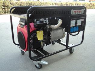 """เครื่องกำเนิดไฟฟ้าเครื่องยนต์เบนซิน """"PATCO"""" #S20FS-160/A 10 KVA Gasoline Generator 10 KVA."""