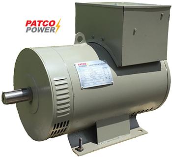 """ไดนาโมเพลาลอย """"PATCO"""" #PC30T ขนาด 37.5 KVA (30KW.) Altenator """"PATCO"""" #PC30T 37.5 KVA(30 KW.3PHASE)"""