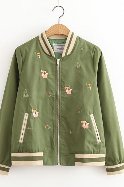 เสื้อคลุมแฟชั่น เสื้อกันหนาว พร้อมส่ง เสื้อคลุมแฟชั่น เสื้อกันหนาว ผ้าคอตตอน สีเขียว