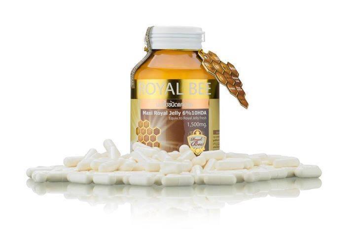 นมผึ้ง RoyalBee Maxi Royal jelly 6% 1500mg 60 เม็ด