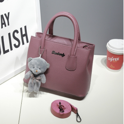 กระเป๋าสะพายข้างผู้หญิง Girl Tools Purple แถมหมี