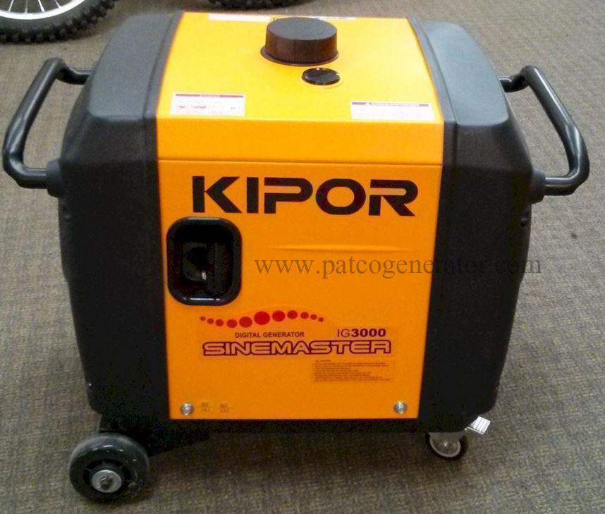 """เครื่องกำเนิดไฟฟ้าเครื่องยนต์เบนซิน 3 KVA KIPOR IG3000 (PORTABLE GASLOLINE GENERATOR """"KIPOR"""" # IG3000 3 KVA)"""
