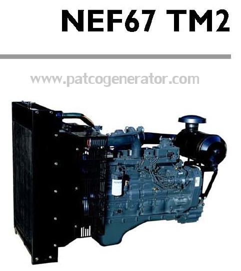 """เครื่องยนต์ดีเซล Diesel Engine """"IVECO"""" 6 สูบ Cylinder # NEF67TM2 ขนาด prime 114 kw. @ 1500 RPM."""