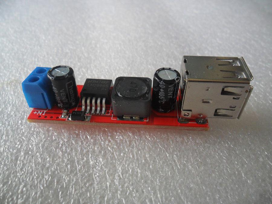 ชุดแปลงไฟ 6-40 โวลต์ เป็น 5 โวลต์ USB