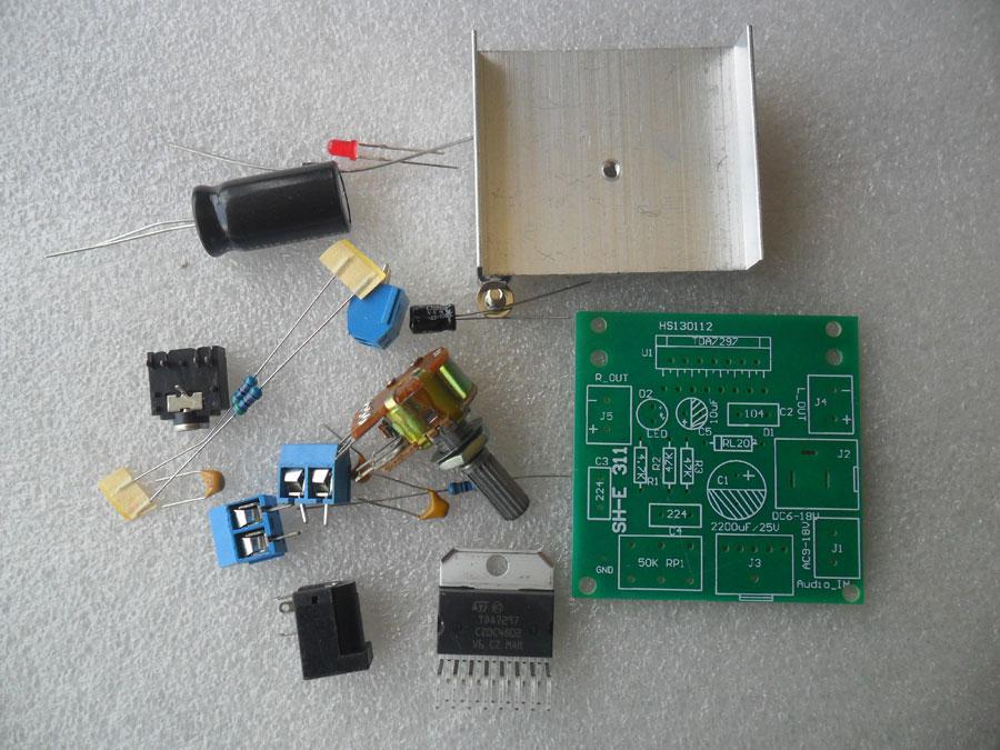ชุดคิทวงจรขยายเสียง IC TDA7297 15+15 วัตต์