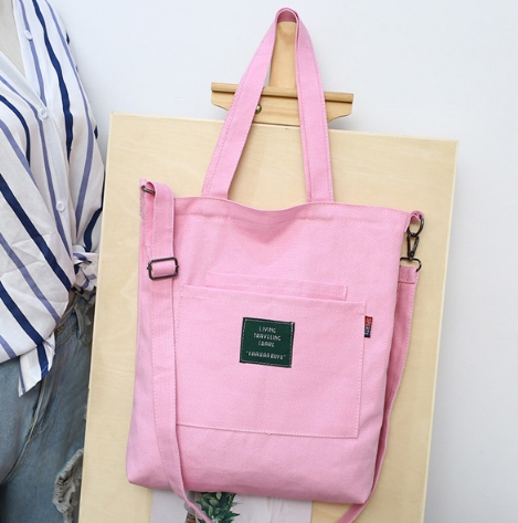 กระเป๋าผ้า LD002 PINK