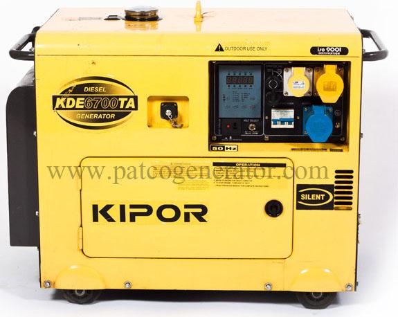 """เครื่องกำเนิดไฟฟ้า เครื่องยนต์ดีเซลขนาด 5 KVA KIPOR #KDE6700TAO มี ATS (DIESEL GENERATOR """"KIPOR"""" #KDE6700TAO 5 KVA. WITH ATS)"""