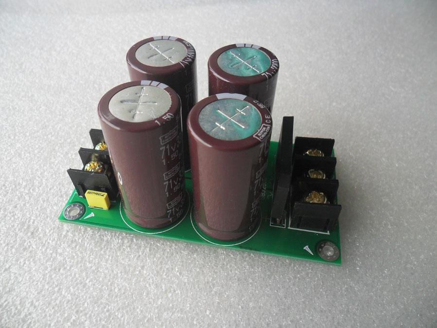 วงจร Rectifier ไฟบวก ลบ กราด์ C3300uF/71V X 4 สำหรับวงจรขยายเสียง