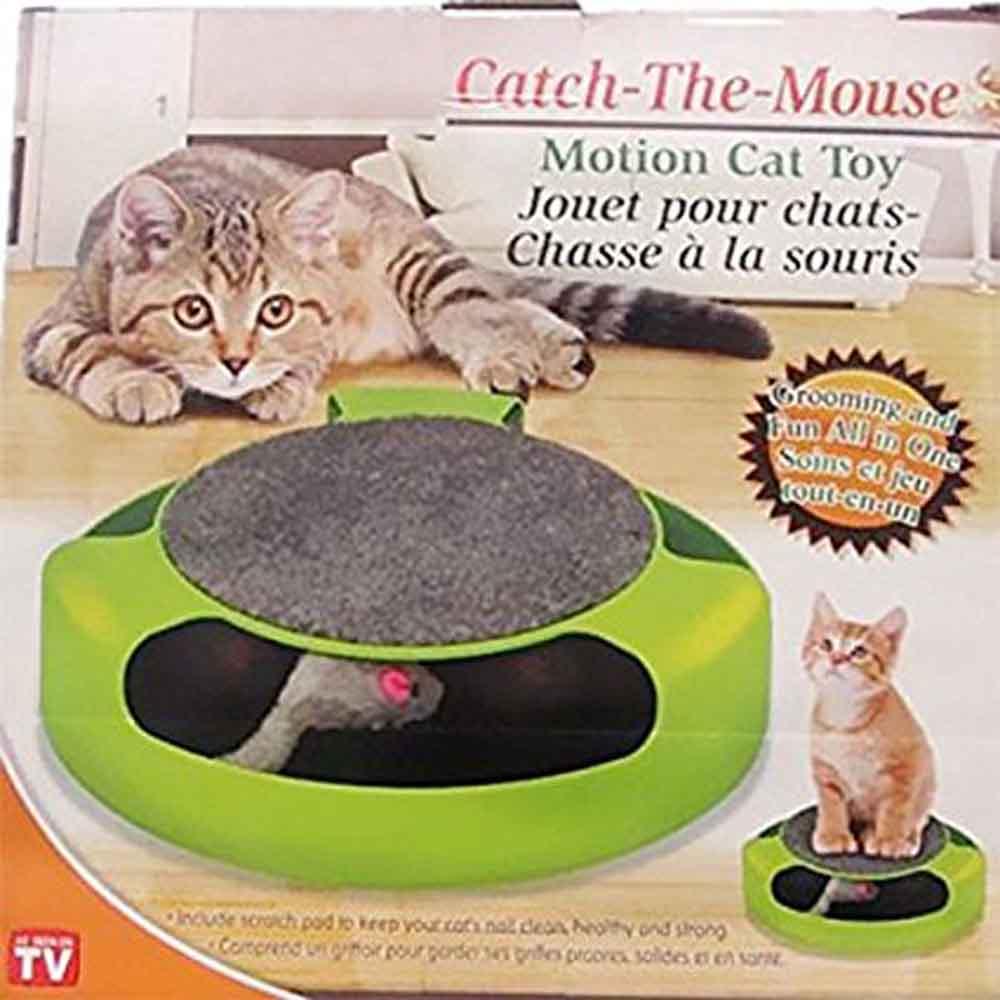 เพียง 229 บ. กับกล่องของเล่นแมวไล่จับหนู (สีเขียว) ให้แมวของคุณออกกำลังกาย สดชื่น แจ่มใส แข็งแรง