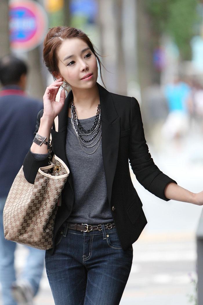 (พร้อมส่ง size S,M)เสื้อสูทแฟชั่น พร้อมส่ง มีปก แขนยาว สีดำ สวยเท่ห์ คัตติ้งดี งานเนี๊ยบ