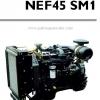 """เครื่องยนต์ดีเซล Diesel engine """"IVECO"""" 4 สูบ cylinder # NEF45SM1 ขนาด prime 53.5 kw. @1500 RPM."""