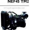 """เครื่องยนต์ดีเซล Diesel Engine """"IVECO"""" 4 สูบ Cylinder # NEF45TM2 ขนาด prime 87 kw. @ 1500 RPM."""