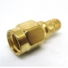 SMA/M RG142 สีทอง หัวตรง