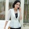 เสื้อสูทแฟชั่น เสื้อสูทสำหรับผู้หญิง พร้อมส่ง สีขาว ผ้าคอตตอน 100 % เนื้อดี คุณภาพงานพรีเมี่ยม งานตัดเย็บเนี๊ยบ