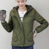 เสื้อกันหนาวแฟชั่น พร้อมส่ง สีเขียวขี้ม้า แขนยาว แต่งจั๊มปลายแขน