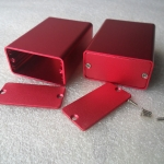 กล่องอลูมิเนียมขนาดสีชมพูแดง 23*44*60mm ขายเป็นชุด (ชุดละ 2 กล่อง)