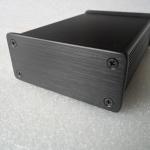 กล่องอลูมิเนียมสีดำ ฝาหนา ขนาด 27*66*100 mm