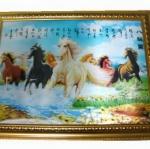 กรอบรูปภาพม้าแปดตัวบนสายน้ำ 3 มิติ
