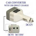 ชาร์จอุปกรณ์ของคุณในรถยนต์ พร้อมทั้งยังสามารถแปลง DC to AC ได้ในตัวด้วยที่ชาร์จในรถยนต์ USB 1 ช่อง พร้อมช่องปลั๊กไฟ 1 ช่อง