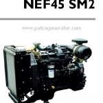 """เครื่องยนต์ดีเซล Diesel Engine """"IVECO"""" 4 สูบ Cylinder # NEF45SM2 ขนาด prime 66 kw. @ 1500 RPM."""