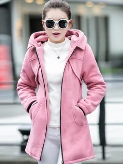เสื้อกันหนาว พร้อมส่ง สีชมพู ผ้าฟลีซ ใส่สบาย เนื้อหนาใส่แล้วอุ่นแน่นอนค่ะ