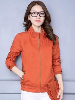 สื้อกันหนาวแฟชั่น พร้อมส่ง สีส้ม แต่งจั๊มปลายแขน แบบซิบรูด มีฮูท เท่ห์สุดๆ ฮูทมีซิบรูดสามารถถอดออกได้ กระเป๋า 2 ข้างใช้งานได้