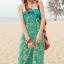 ชุดเดรสยาว maxi dress พร้อมส่ง โทนเขียว-ฟ้า สายคล้องคอ แต่งลวดลายสุดเก๋ๆทั้งชุด เนื้อผ้ายืดหยุ่นใส่สบาย ซัมเมอร์นี้ไม่ควรพลาดนะคะ thumbnail 6
