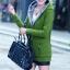 เสื้อกันหนาว พร้อมส่ง สีเขียว ซิบหน้า มีฮูทสุดเท่ห์ ฮูทบุด้วยขนสัตว์สังเคราะห์นิ่มๆ thumbnail 2