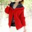 เสื้อกันหนาวไหมพรม พร้อมส่ง สีแดง ลายไหมพรมถัก มีฮูท ด้านในเป็นขนสัตว์สังเคราะห์ เนื้อนิ่ม น่ารักๆ thumbnail 2