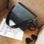 กระเป๋าสะพายข้างผู้หญิง Leather around สีดำ thumbnail 2