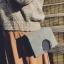 กระเป๋าสะพายข้าง squre curcle สีเทา สำเนา thumbnail 9