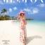 ชุดเดรสยาว MAXIDRESS พร้อมส่ง เกาะอก ลายดอกไม้สีชมพู สวยมาก สม๊อคหลัง thumbnail 8