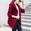 เสื้อกันหนาว พร้อมส่ง สีแดงอมม่วง แต่งตัดด้วยลายเส้นสีดำสุดเท่ห์ ใส่กันหนาวได้สบายเลยค่ะ งานสวยเหมือนแบบแน่นอนค่ะ thumbnail 3