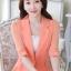 เสื้อสูทแฟชั่น เสื้อสูทสำหรับผู้หญิง พร้อมส่ง สีส้ม ผ้าคอตตอน 100 % เนื้อดี thumbnail 2