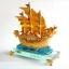 เรือสำเภาหัวมังกรทองบนฐานแก้วใส ขนาด 7 นิ้ว thumbnail 2