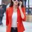 เสื้อสูทแฟชั่น เสื้อสูทสำหรับผู้หญิง พร้อมส่ง สีส้ม คอวี แต่งเว้าช่วงคอเสื้อ ผ้าคอตตอน 100 % เนื้อดี คุณภาพงานพรีเมี่ยม งานตัดเย็บเนี๊ยบ thumbnail 3