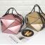 กระเป๋าสะพายข้างผู้หญิงพับได้ Fashion woman (Pink) thumbnail 9