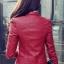 เสื้อแจ็คเก็ต เสื้อหนังแฟชั่น พร้อมส่ง สีแดง คอจีน ดีเทลด้วยปกโฉบเฉี่ยว แต่งกระเป๋าหลอกด้วยซิบรูด สุดเท่ห์ หนัง PU คุณภาพดี หนังเนื้อนิ่มหน้าใส่ thumbnail 4