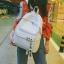 กระเป๋าเป้ LB001 เป้ใบใหญ่ ใส่หนังสือได้ PINK thumbnail 9