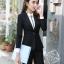 ชุดสูททำงาน และ กระโปรง กางเกง เสื้อเชิ๊ต : ชุดสูททำงาน เซ็ตคู่ เสื้อสูทสีดำ คอปก แขนยาว ทรงเรียบหรู มีกระเป๋าใช้งานได้ เข้าชุดกับ กระโปรง กางเกง เสื้อเชิ๊ต thumbnail 6