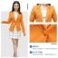 เสื้อสูทแฟชั่น พร้อมส่ง สีส้มอิฐ แขนยาว คอปก คัตติ้งดี งานเนี๊ยบ สวยเหมือนแบบ ติดกระดุมเม็ดเดียวเก๋ thumbnail 6