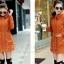 เสื้อโค้ท เสื้อกันหนาว พร้อมส่ง สีส้ม แขนยาวจั๊มปลายแขน แต่งตัดด้วยสีน้ำตาลสีสวย thumbnail 4