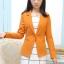 เสื้อสูทแฟชั่น พร้อมส่ง สีส้มอิฐ แขนยาว คอปก คัตติ้งดี งานเนี๊ยบ สวยเหมือนแบบ ติดกระดุมเม็ดเดียวเก๋ thumbnail 2